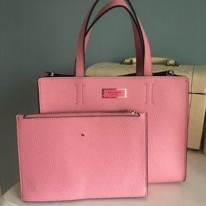 Kate Spade Pink Sam Leather Satchel